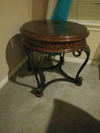 brown wooden frame glass top table Pearland, 77584