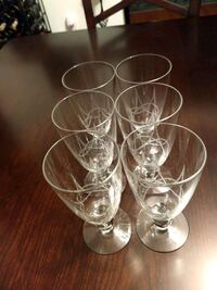 clear glass footed wine glasses Norfolk, 23518