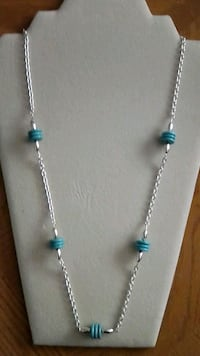 Beautiful chain torquoise necklace