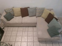 brown and white sectional couch El Paso, 79907
