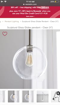 West elm light pendent 3 total  Springfield, 22152