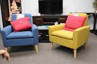 Blue and Yellow Accent Chairs Santa Fe Springs