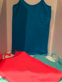 3 Spaghetti Strap Tanks Size Medium