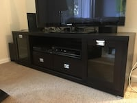 Black wooden tv stand with flat screen television Martinez, 94553