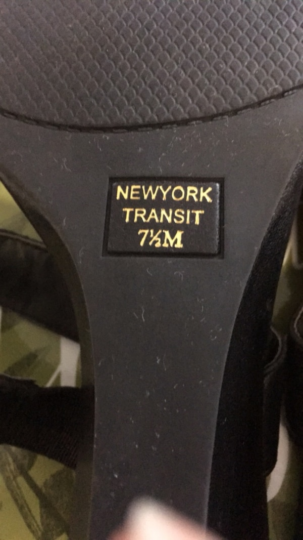 Gently used New York transit size 7 1/2 black jeweled sandals a3d088af-561c-4921-83fd-f4a34daae8ce