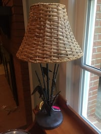 Oil rubbed bronze bamboo lamp