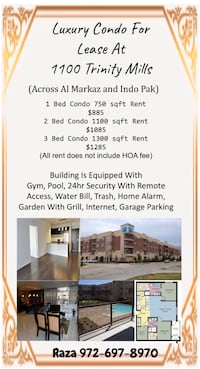 APT For rent 1BR 1BA Carrollton