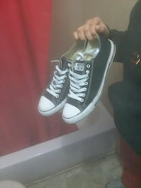 black-and-white Converse All Star low Houston, 77002