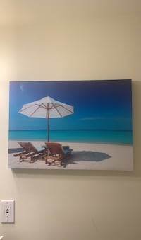 Canvas art Island Paradise.  bought for $50 Columbia, 21044