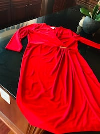 Women's red cocktail dress 7 km