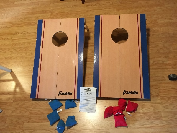 Fine New Bean Bag Toss Corn Hole Game With Tic Tac Toe Game On Back Machost Co Dining Chair Design Ideas Machostcouk