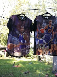 Kevin Durant and Stephen Curry crew-neck shirts