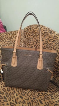 brown and gray Michael Kors monogram tote bag Dearborn Heights, 48127