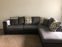 gray fabric sectional sofa with throw pillows Taylor, 48180