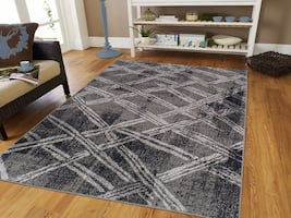 New Gray Modern rug 5x8 8x11 area rugs