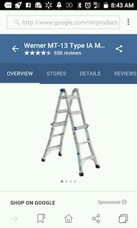 stainless steel Werner A-frame ladder screenshot Magna, 84044