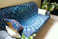 Navy blue mandala throw over Ottawa, K2J 3B1