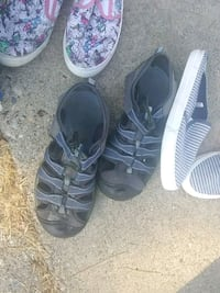 two pairs of black and gray sandals Grass Valley, 95945