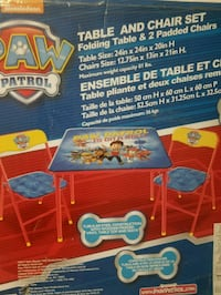 Paw patrol table and chairs.. Toronto, M6A 1N2