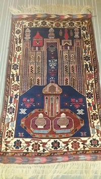 Afghan Hand knotted rug prayer Oslo, 0850