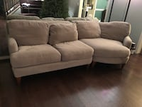 Tan fabric 3-seat sofa Leesburg, 20176