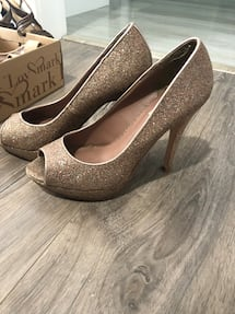Nude glittery shoes