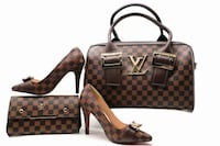brown and black Louis Vuitton leather tote bag Toronto, M6M 3A9
