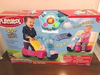Playskool Rocktivity Walk 'N Roll Rider, Pink BNIB    One day shes walking, the next day shes riding and, with a little help from you, shell be jamming to great music the whole time. This toy converts easily from a walker to a ride-on and makes music with Toronto