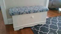Reupholstered and Painted Cedar Chest.  Pelham, L0S 1E2