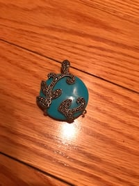 Turquoise pendent with sliver detail  Waterloo, N2T 2E6