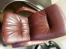 Used chair shows wear and tear