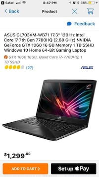 Asus Gaming laptop 2018 edition  Rome, 13440
