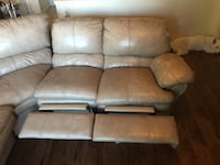 Beautiful Tan Leather couch semi good condition Austin