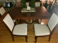 rectangular brown wooden table with six chairs dining set Silver Spring, 20904