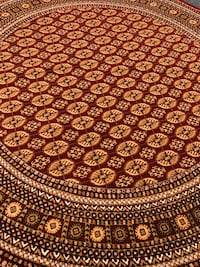 New Turkish Round rug size 8x8 circle carpet red burgundy Persian rugs Burke