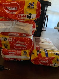 Huggies size 1&2 (214 diapers) Charlotte, 28269
