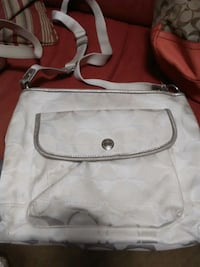 Coach Silver/grey Canvas Crossbody 990 mi