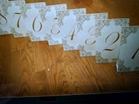 Table numbers 1-9 Toronto, M1H 2E4