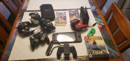 Switch with games and accessories