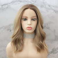 Strawberry blonde human hair lace front wig