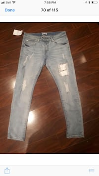 Brand new jeans ordered from China wrong size to big for me they are 36 waist price is firm