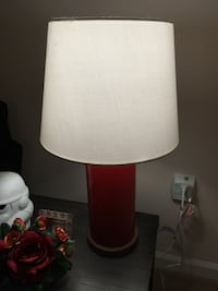 Red Table Lamp Herndon, 20170
