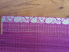 Purple straw mat. Available in pink too