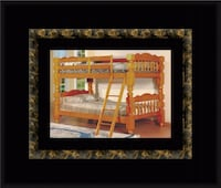 Wooden twin bunkbed frame with 2 mattress Riverdale Park