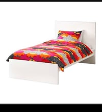 White IKEA twin sized bed  Toronto, M5T 2H1