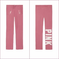 NWT Victoria's Secret PINK Boyfriend Pants Sweatpants (Extra Small,Soft Begonia) Swansea