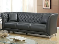 Brand New Luciana Gray Leatherette Sofa by Furniture of America Лос-Анджелес