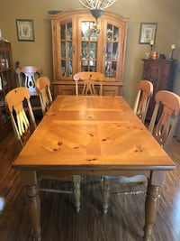 rectangular brown wooden table with six chairs dining set Smithtown, 11787