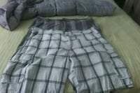 gray and white plaid shorts Anderson, 29626
