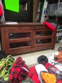 brown wooden TV stand with cabinet Beaverton, 97078